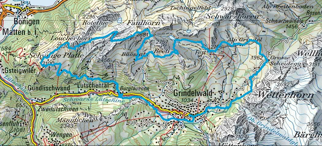 Route Map Eiger Ultra Trail E51